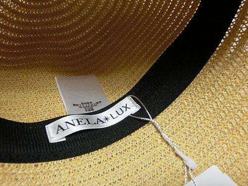 ANELA LUX(アネラリュクス) リボン付エレガントハット(麦わら帽子)