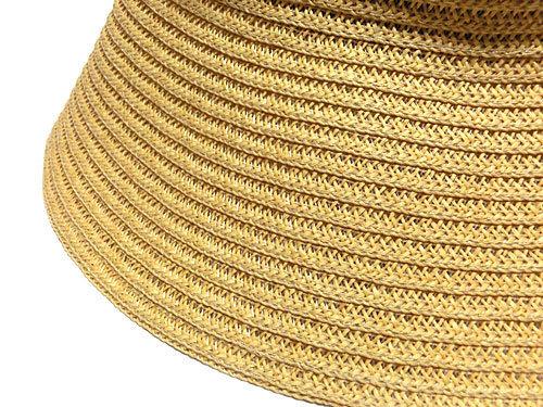 ANELA LUX/アネラリュクス リボン付エレガントハット、麦わら帽子のつば部分