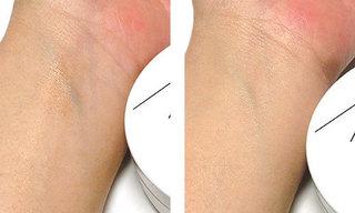 アクア・アクア オーガニッククッションコンパクトを使っている肌の写真
