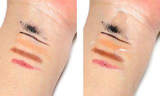 シンデレラタイム ブースターセラム ナノクレンジングゲルを使ってクレンジングしている肌、その1