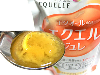 エクエル ジュレはオレンジ味のゼリーで美味しい