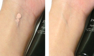 インフィニティ タイトリフト ベースを使っている肌の写真