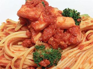 カゴメ 濃厚あらごしトマトを使った、ナポリ風トマトスパゲティ