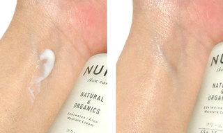 NUNC モイスチャークリームを使っている肌の写真