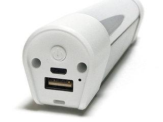 USB充電式 LEDハンディライト、スイッチ側