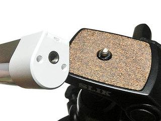 サンワダイレクト USB充電式LED ハンディライトを三脚へ取り付ける
