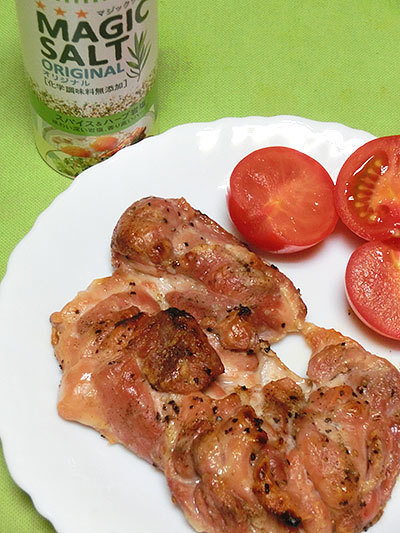 S&B マジックソルト オリジナルで作った料理、鶏もも肉のソテー