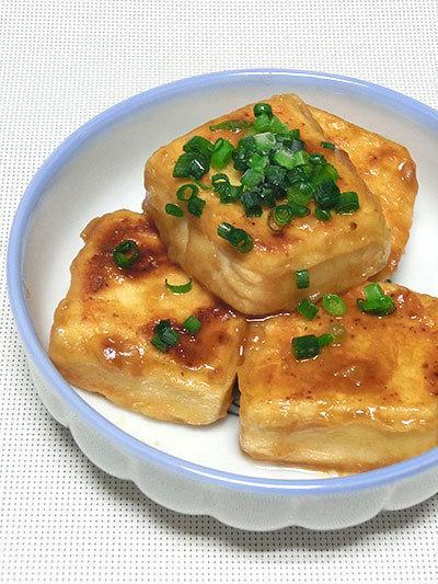 宋家 チヂミ粉で作った、揚げない揚げ出し豆腐の完成
