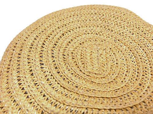 ANELA LUX/アネラリュクス リボン付エレガントハット、麦わら帽子の上から