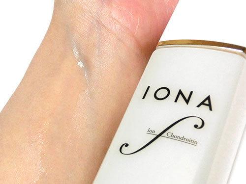 イオナ エフ リッチローションを使っている肌の写真