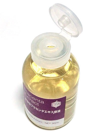 水溶性プラセンタエキス原液は、開封・開栓後にキャップをつけ替える