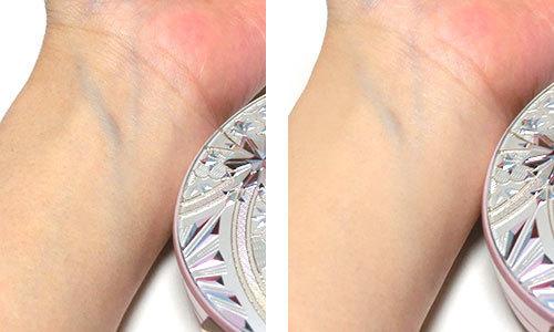 スノービューティー ホワイトニング フェイスパウダー 2020を使っている肌の写真