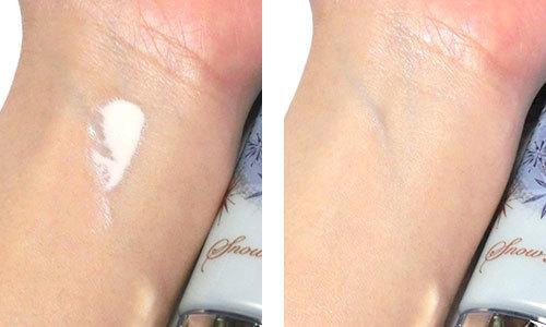 スノービューティー ホワイトニング トーンアップエッセンスを使っている肌の写真
